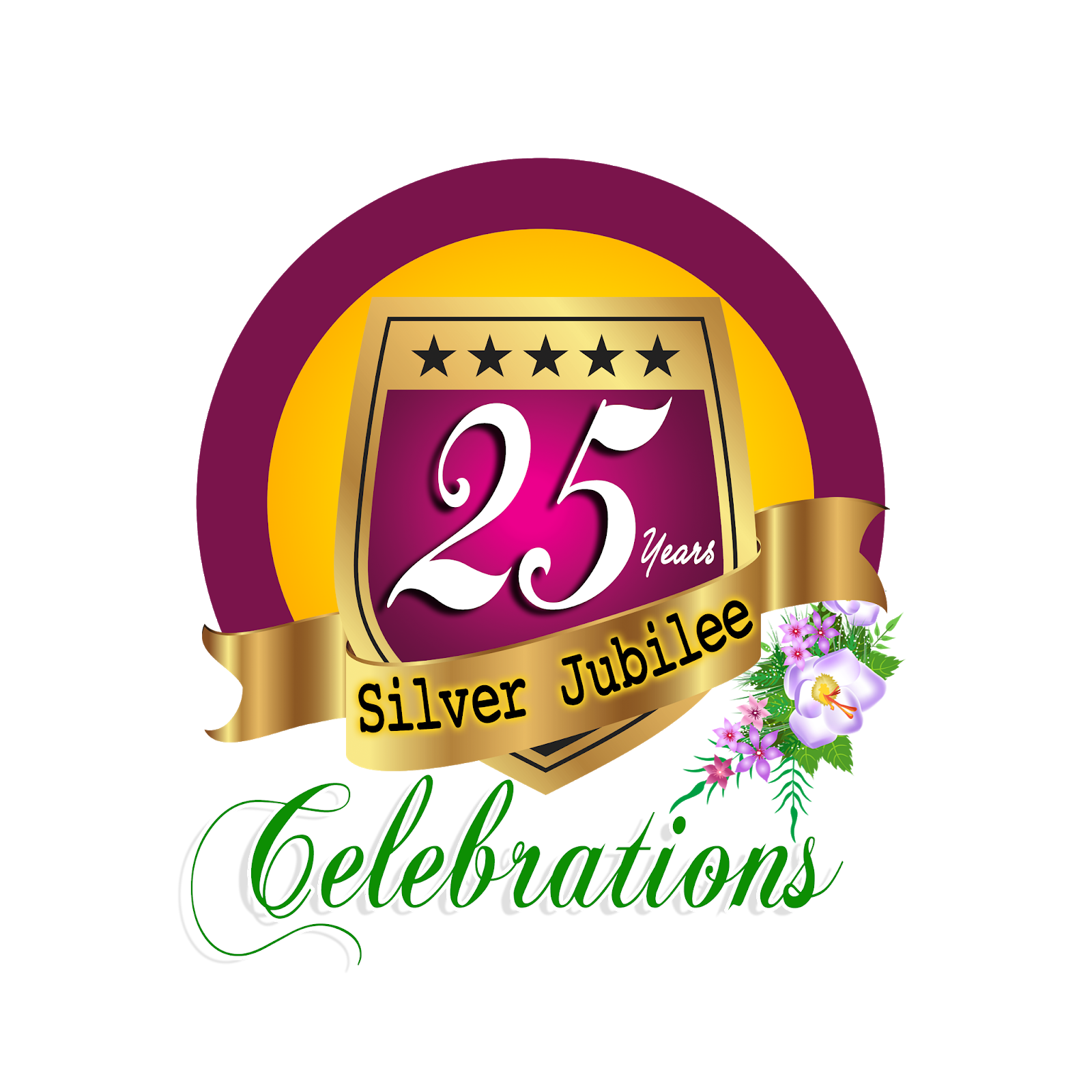 25 years silver jubilee celebrations hd png logo free downloads.