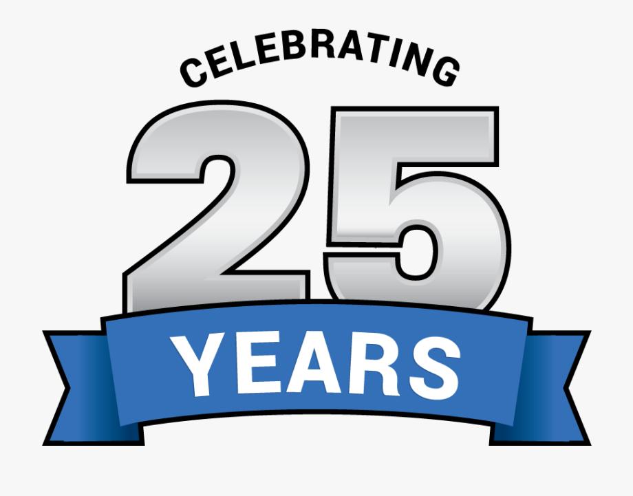 Celebrating 25 Years Logo.
