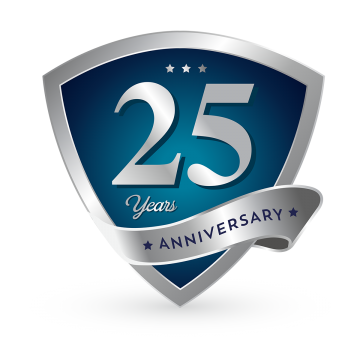 25th Anniversary PNG Images.