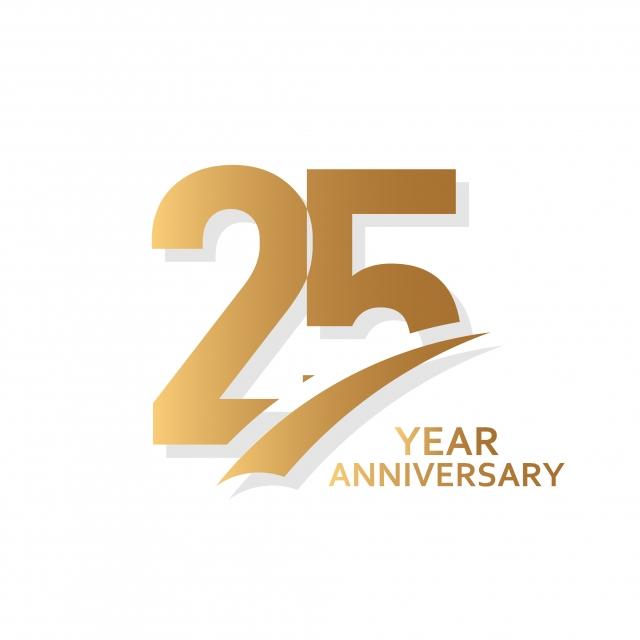25 Year Anniversary Vector Template Design Illustration, 25.