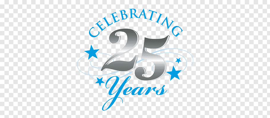 Celebrating 25 Years, Silver Jubilee Celebrations free png.