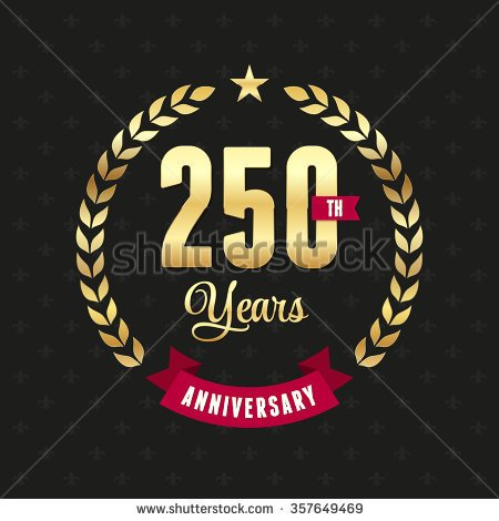 250 year anniverasry clipart.