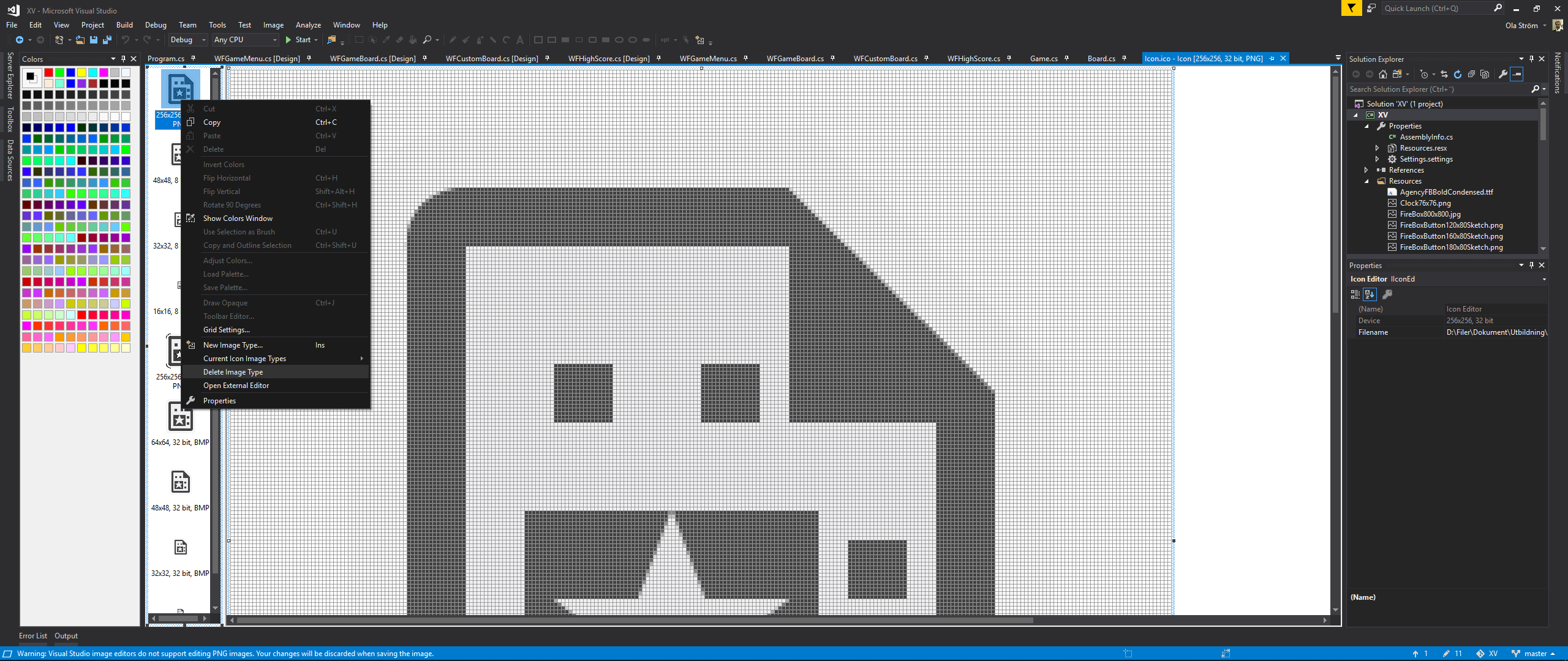 How To Create an Icon for Visual Studio with just MSPaint and Visual.