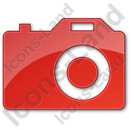Camera Plain Red Icon, PNG/ICO Icons, 256x256, 128x128, 64x64, 48x48.