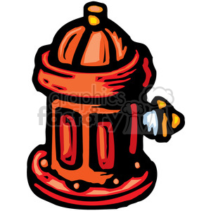fire hydrant clipart. Royalty.