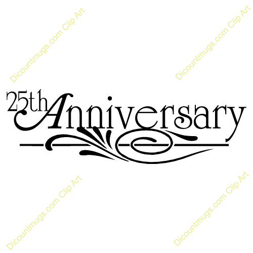 25th anniversary clipart 8 » Clipart Portal.