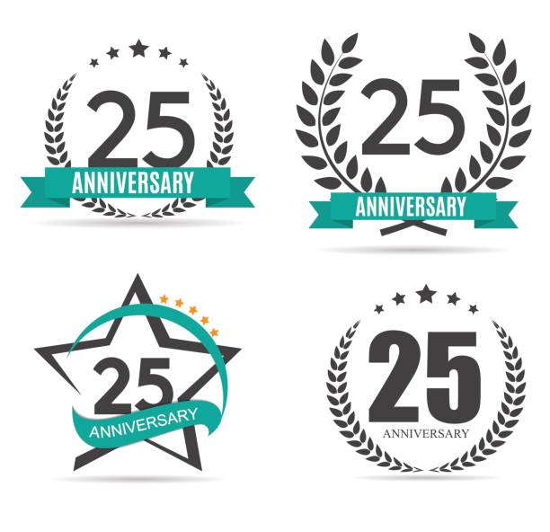 Top 60 25th Anniversary Clip Art, Vector Graphics and Illustrations.