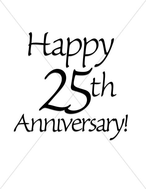 Happy 25th Anniversary! Wordart.