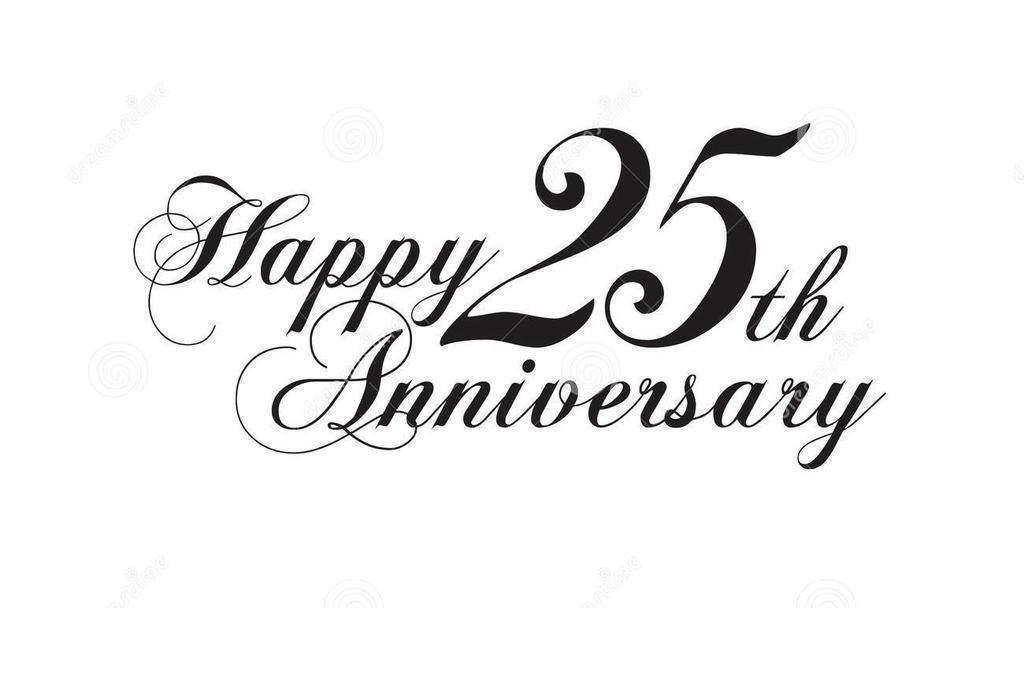 25th Anniversary Clipart Happy.