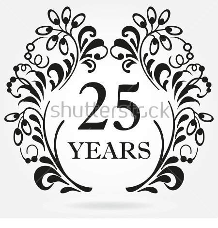25th Anniversary Clipart And Elements For.
