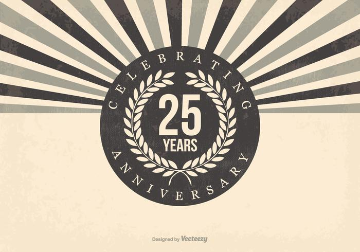 Retro 25th Anniversary Illustration.