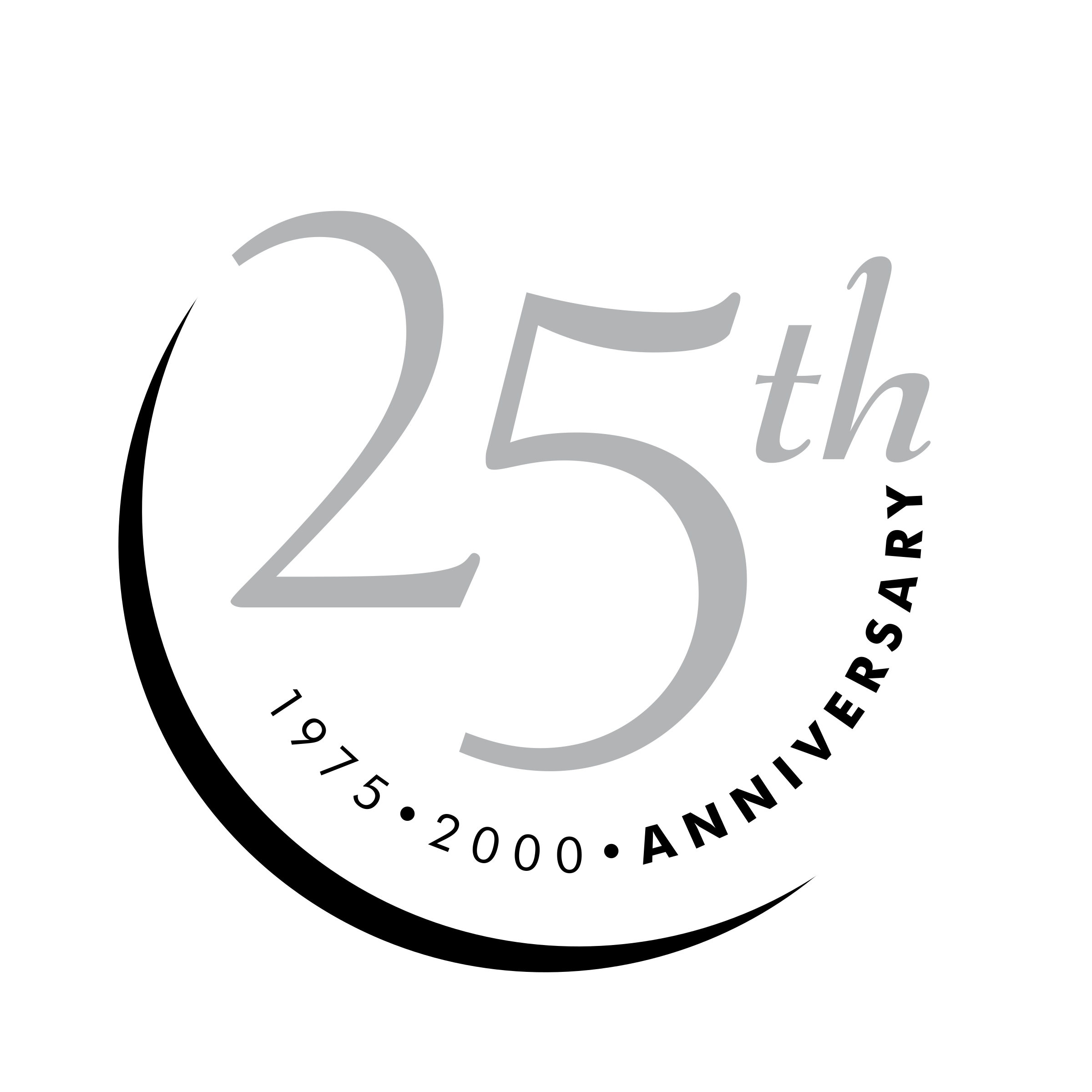 25th Anniversary Logo Png Transparent & Svg Vector.