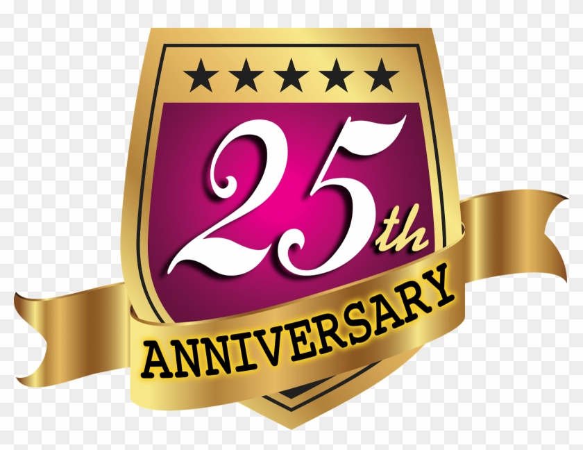 Celebrating 25th Year Anniversary Vector Logo Template.