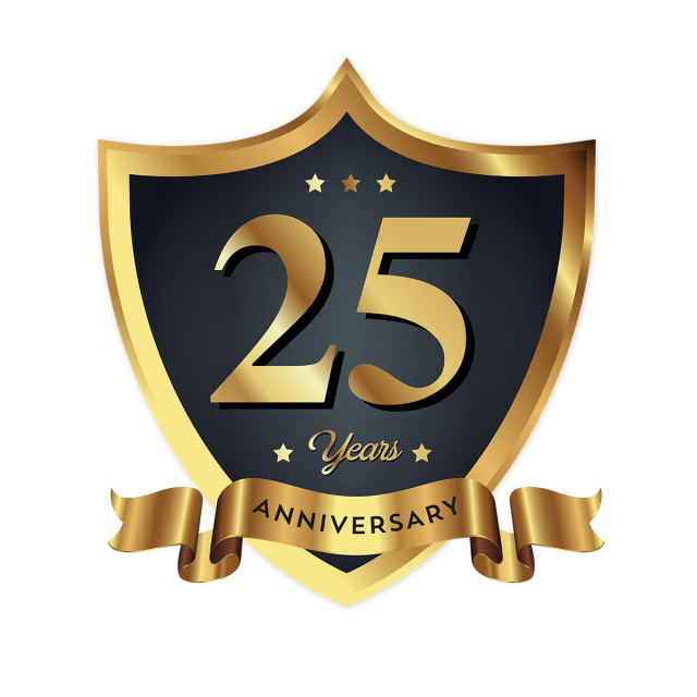 25th Anniversary Png, Vector, PSD, and Clipart With Transparent.