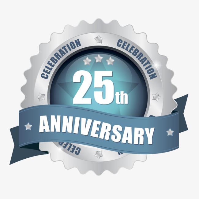 25th Anniversary Silver Badge, Anniversary, 25 Anniversary.