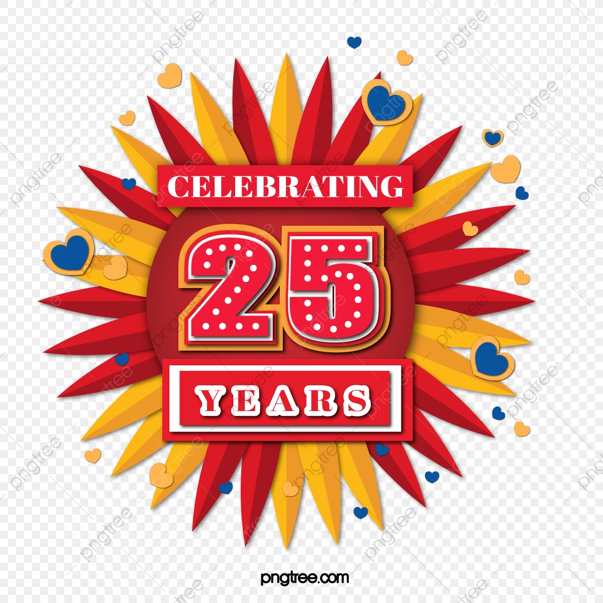 25th Anniversary, Love, Decoration PNG Transparent Clipart Image and.