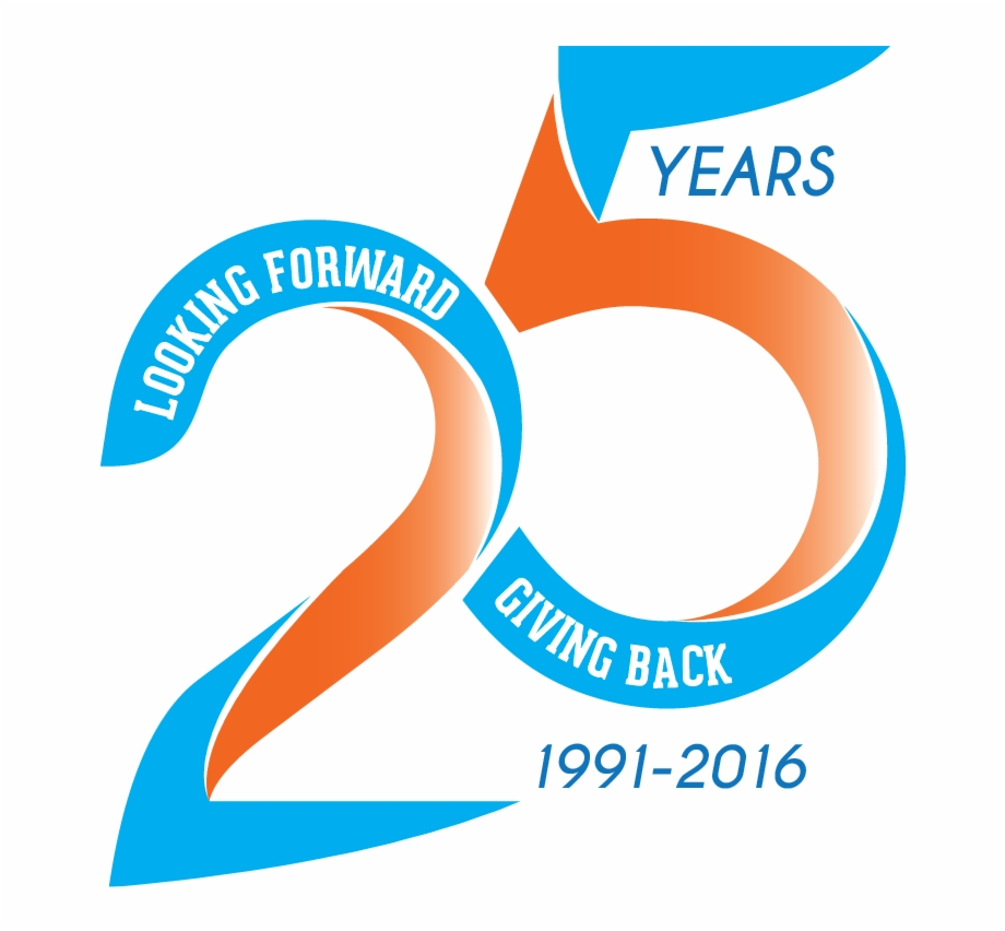 25th Anniversary Logo Design , Png Download.