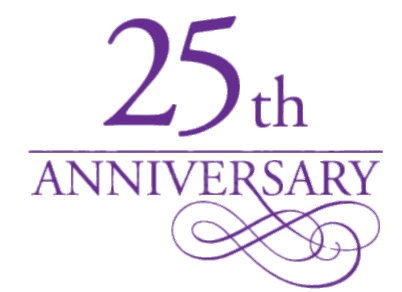 25th Anniversary Purple Letters transparent PNG.
