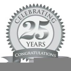 Free Silver Wedding Anniversary Clipart.