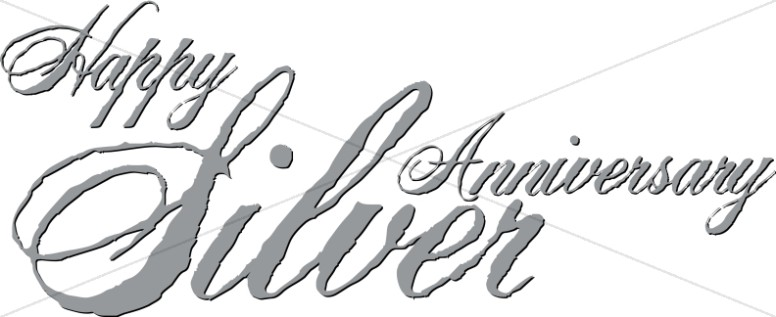 Silver Anniversary script with Antique Effect.