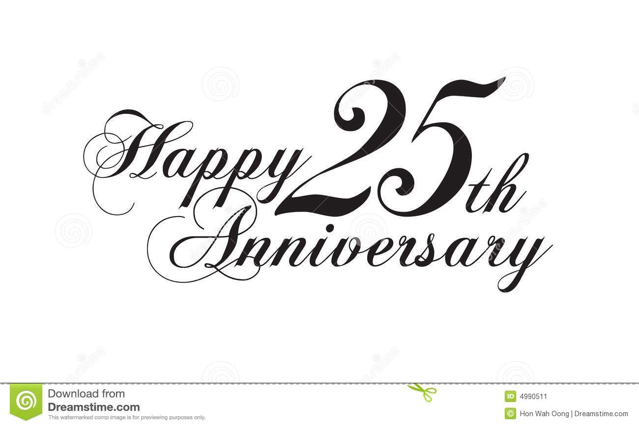 25th Anniversary Royalty Free Stock Photo.