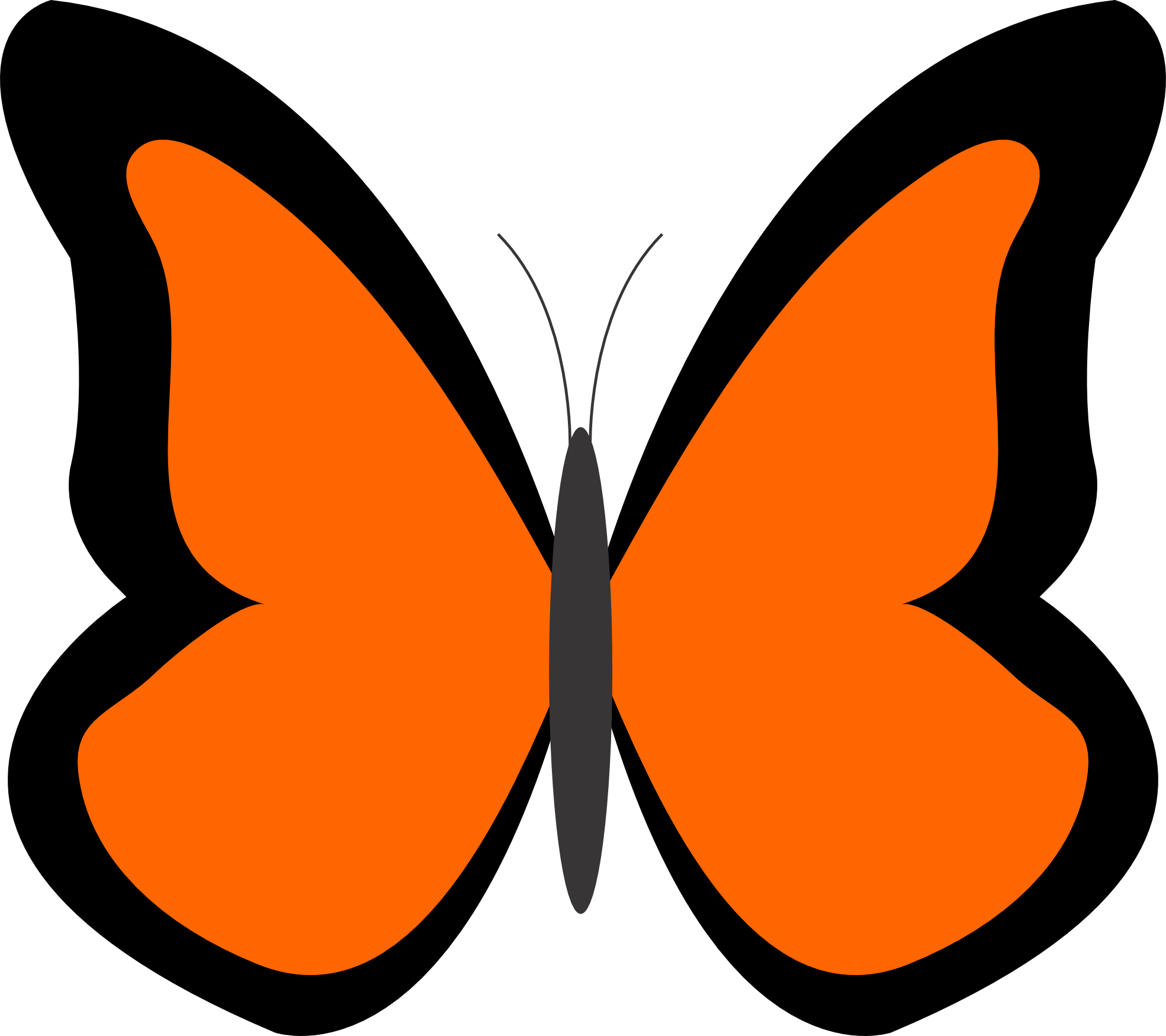 Orange butterfly clipart #8