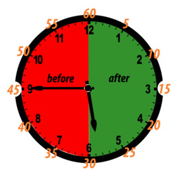 24hour Clock clipart.