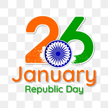 26 January Republic Day Vector Design Illustration, India, Flag.