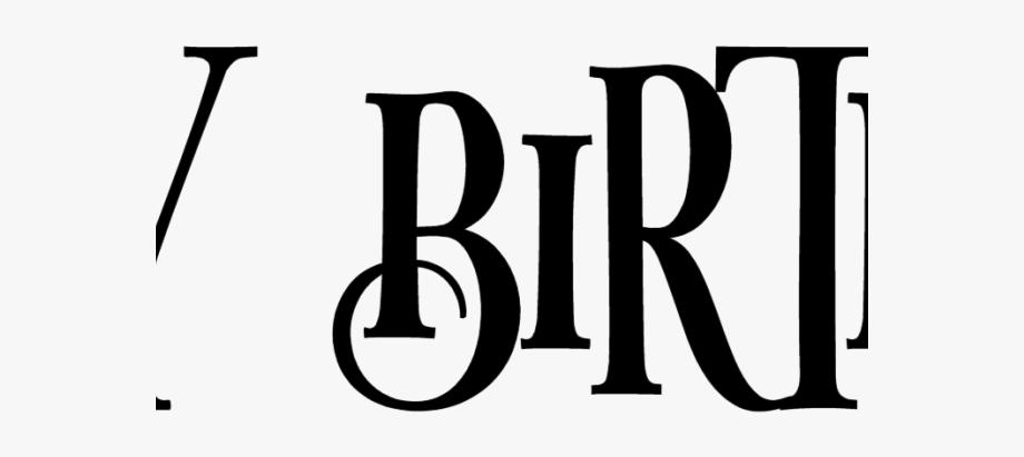 Happy Birthday Clipart Font.