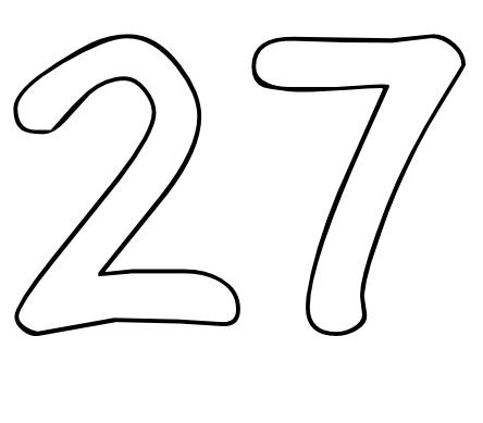 Color by Number Printables Number 27.