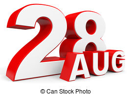 August 28 Illustrations and Clip Art. 29 August 28 royalty free.