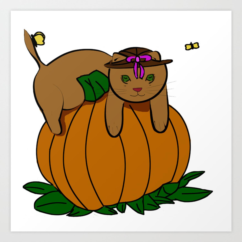 Clipart Kitten Art Print.