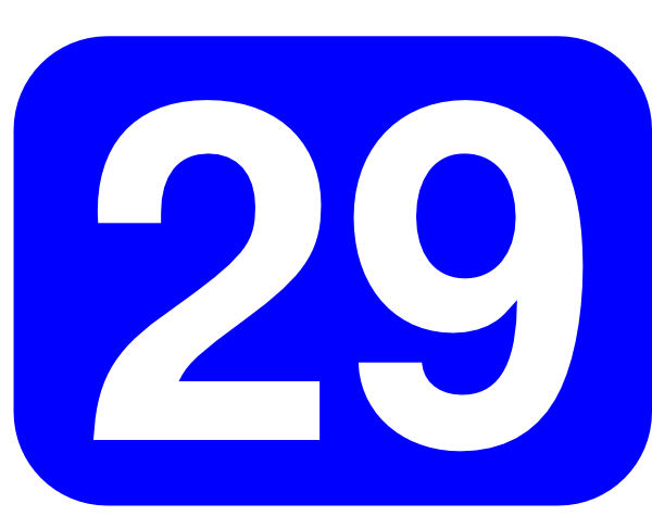 Blue Rounded Rectangle With Number 29 Clip Art at Clker.com.