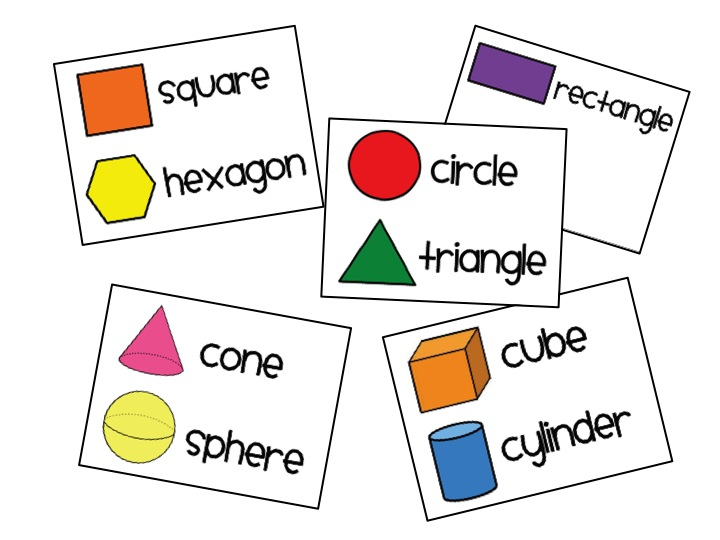 2d And 3d Shapes Clipart.