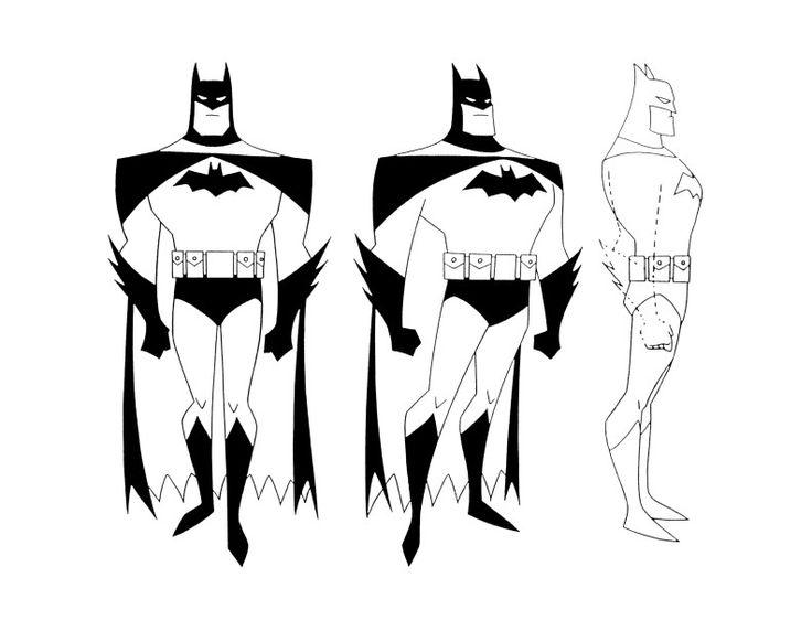 Batman Side View Silhouette.