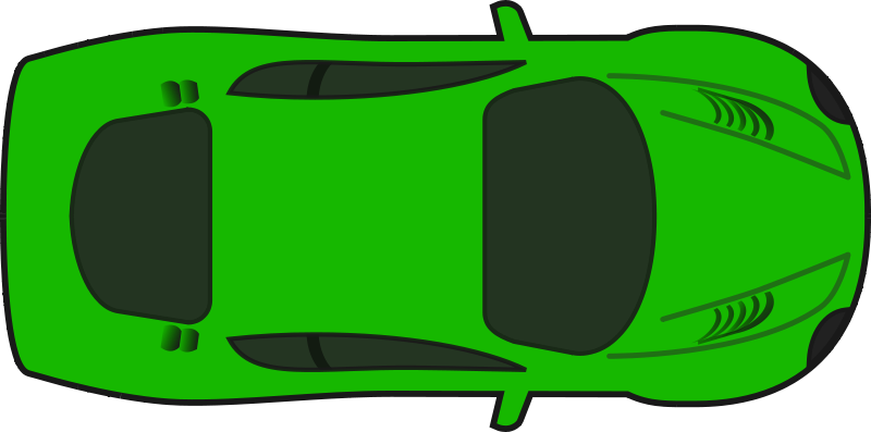 Free Clipart: Green Racing Car (Top View).