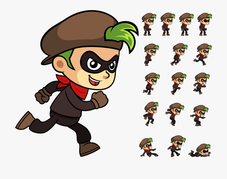 2d Character Sprite Png , Transparent Cartoon, Free Cliparts.