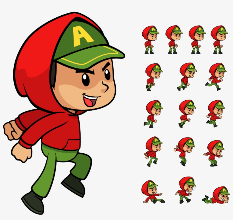 Png 2d Character Sprite.
