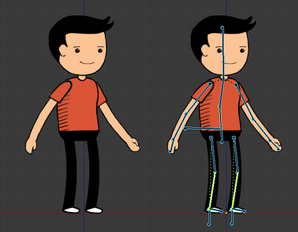 How to Rig a 2D Character in Blender for Cut.