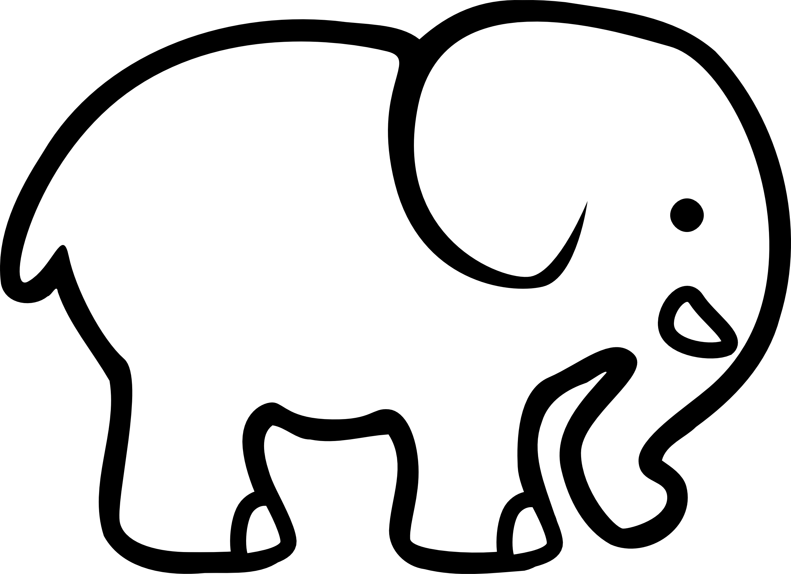 lemmling 2D cartoon elephant Scalable Vector.