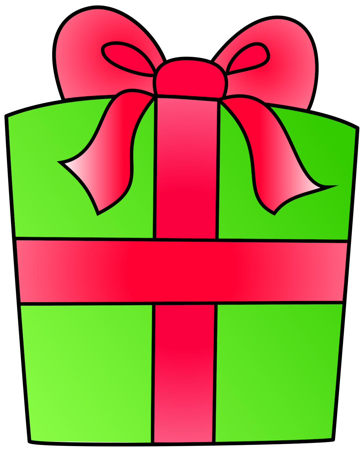 Clipart box green and red 2d.