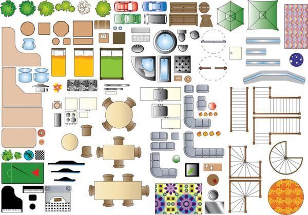 Furniture Plan Symbols.