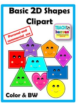 Package Includes *9 colored clip art images of basic 2D.