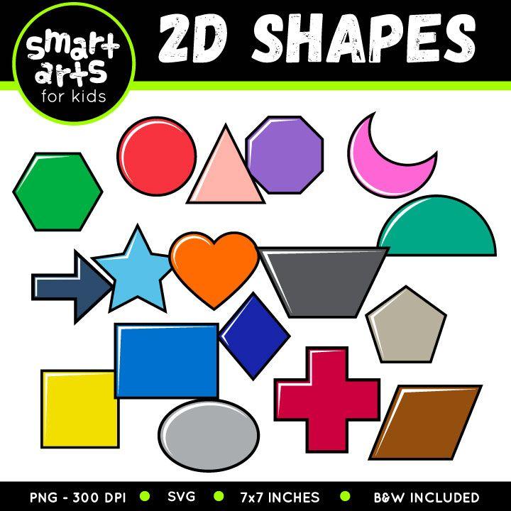 2D Shapes Clip Art.