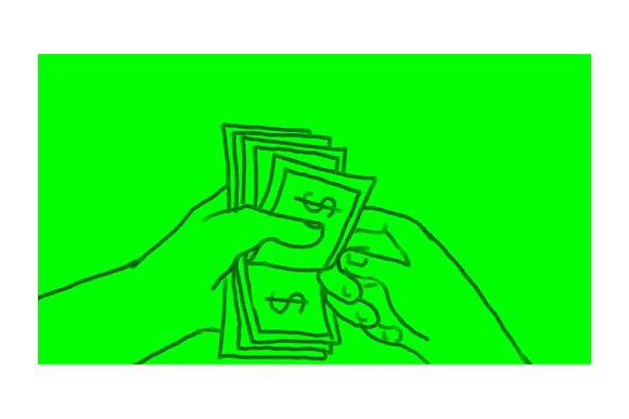 Animation Hand Counting Dollar.