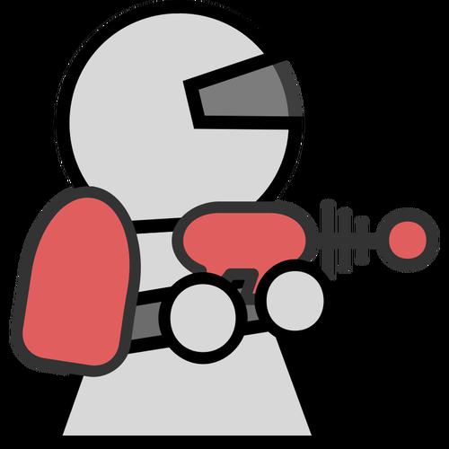 Astronaut icon character vector clip art.
