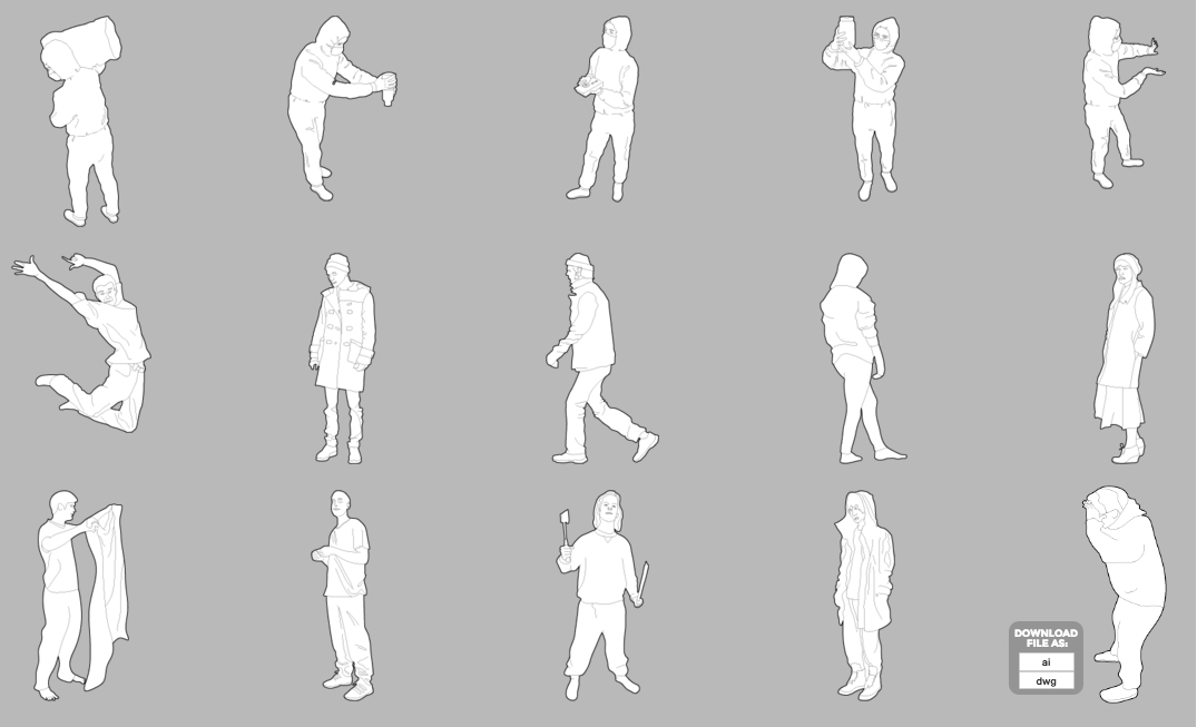 A list of awesome sites for free Cutout People..