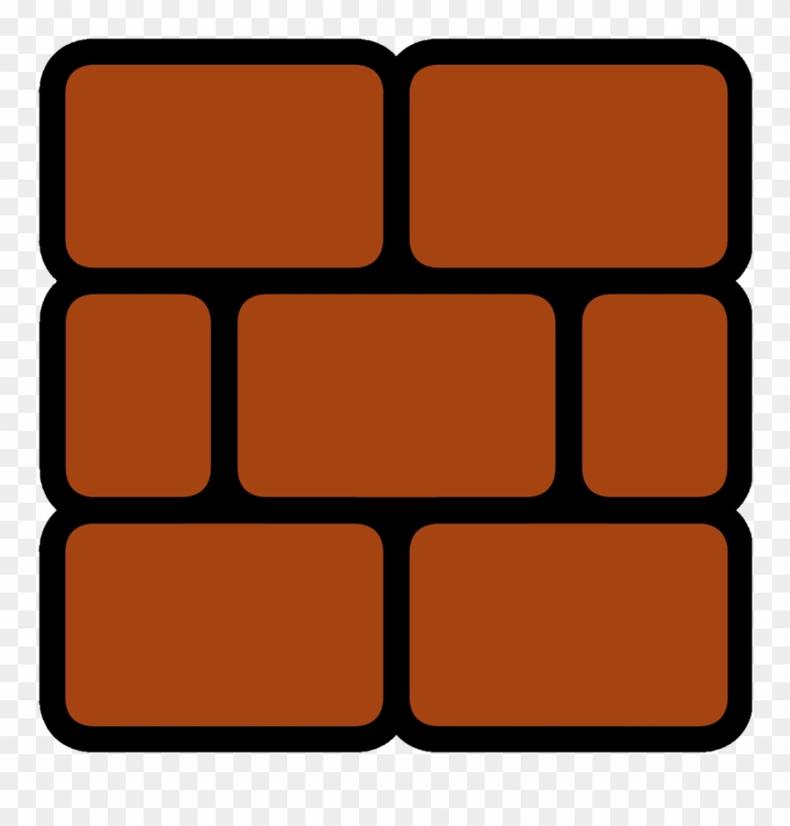 Brick Block Super Mario Clipart.