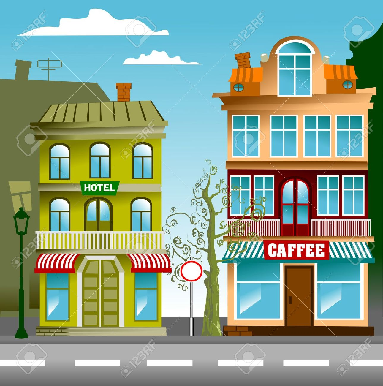 2d street clipart Transparent pictures on F.