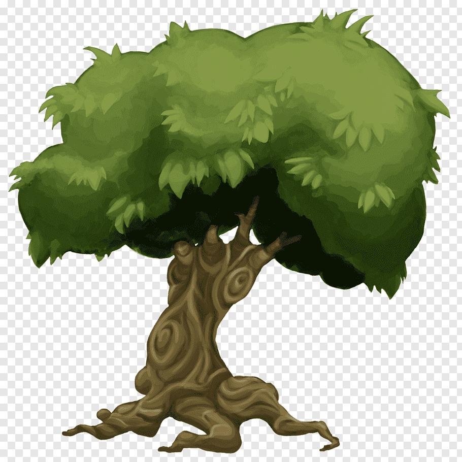 Green tree illustration, Game tree Sprite 2D computer.